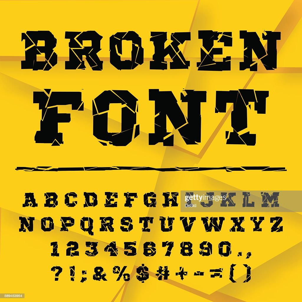 Broken alphabet. Full set