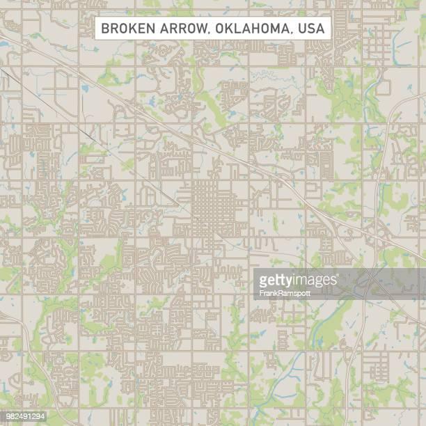 Broken Arrow Oklahoma US City Street Map