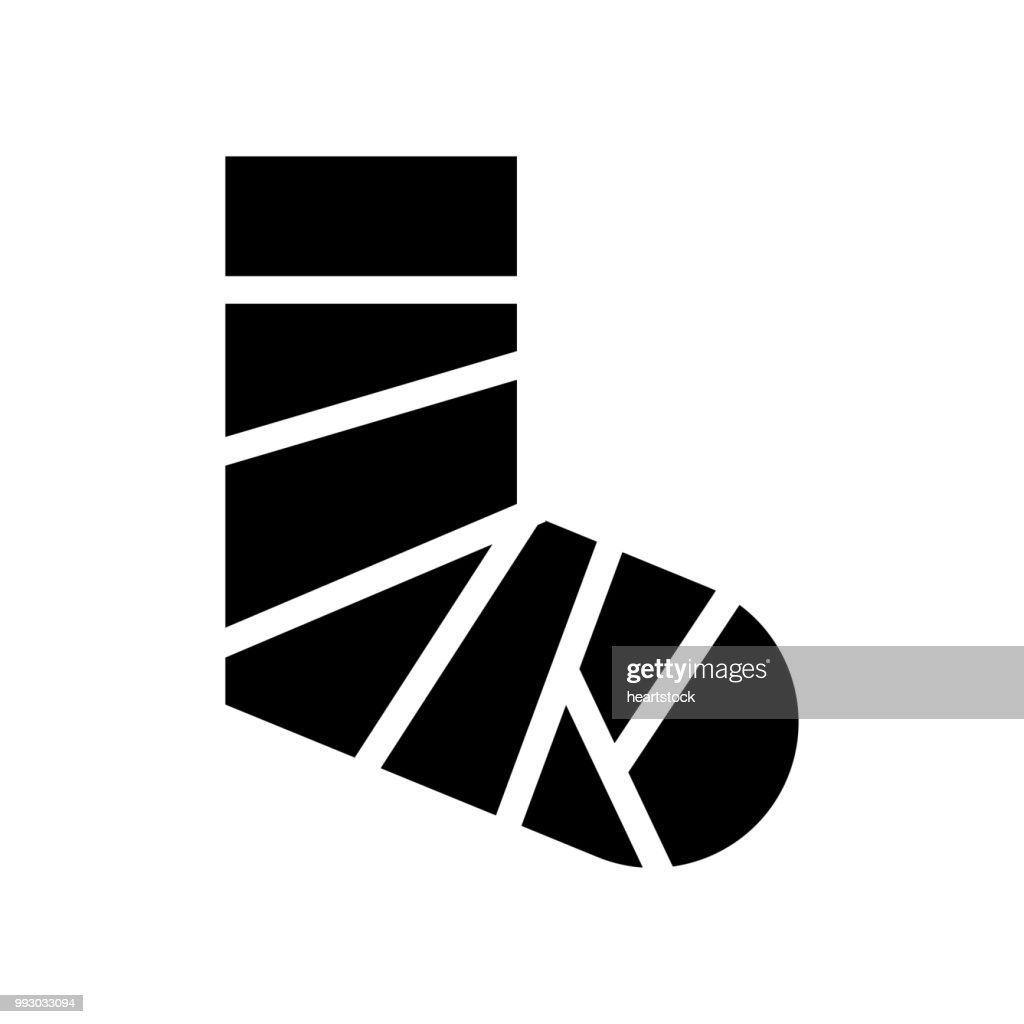 Broken feet with bandage icon vector icon. Simple element illustration. Broken feet with bandage symbol design. Can be used for web and mobile.