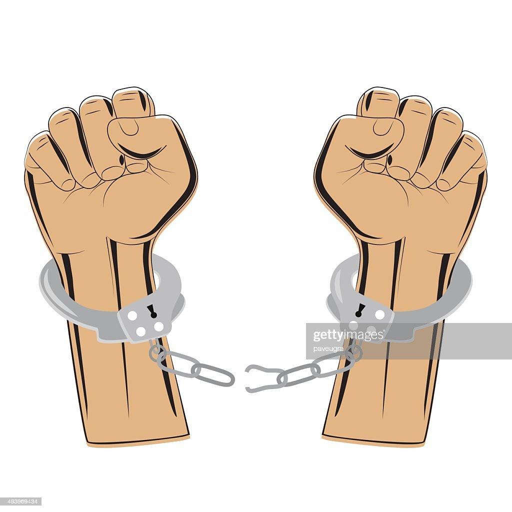 broken handcuffs