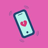Broken heart call news icon