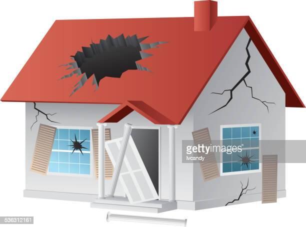 broken house - run down stock illustrations, clip art, cartoons, & icons