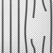 Broken Prison Bars Vector. Way Out To Freedom. Jail Break Concept. Prison-Breaking Illustration. Transparent Background