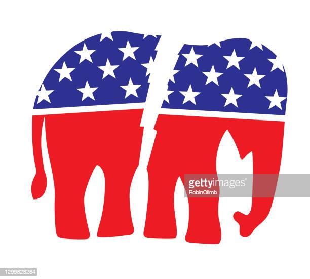 赤い白と青の象 - アメリカ共和党点のイラスト素材/クリップアート素材/マンガ素材/アイコン素材