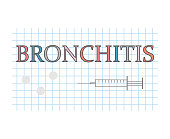 Bronchitis word on checkered paper sheet
