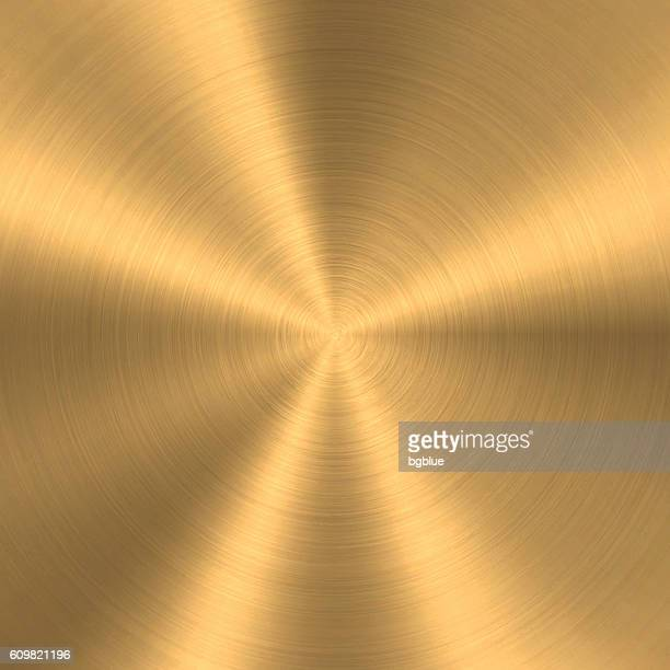 Bronze or Copper - Circular Brushed Metal Texture