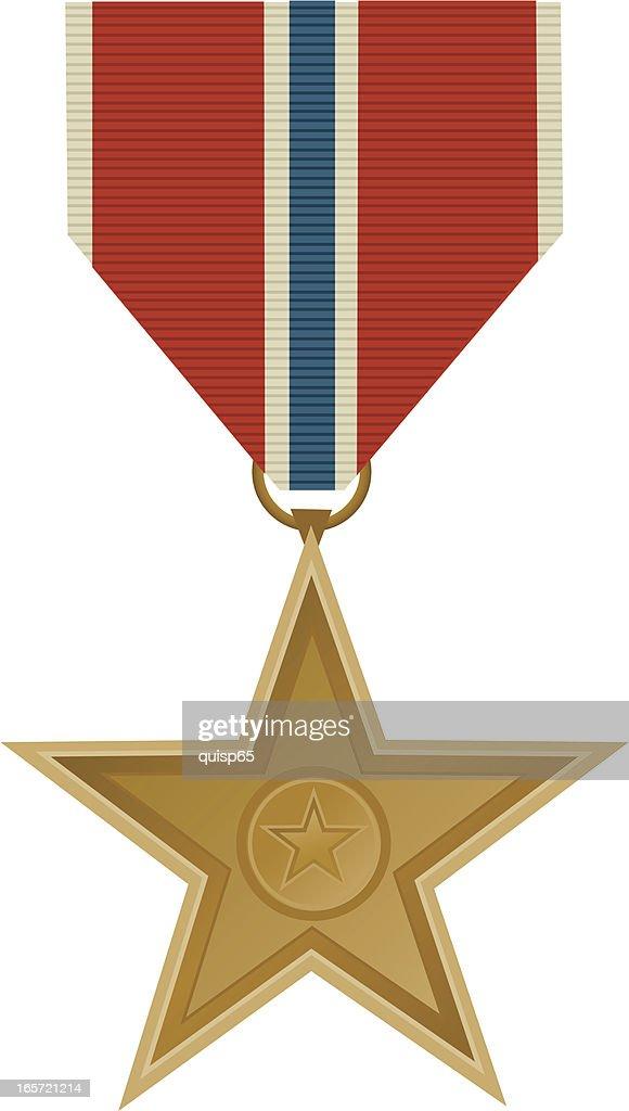 Bronze Star Military Medal : stock illustration