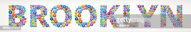 ilustraciones, imágenes clip art, dibujos animados e iconos de stock de botones de vector de brooklyn activo estilo de vida wellness - miembro humano