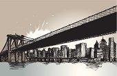 Brooklyn Bridge.. New York City..