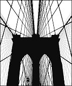 Brooklyn Bridge Silhouette Vector
