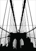 Brooklyn Bridge Vector Silhouette