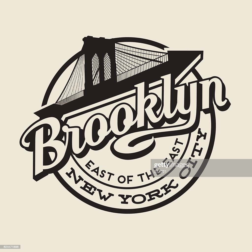 Brooklyn, New York City t-shirt or print typography design.