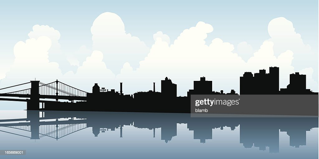 Brooklyn Skyline Silhouette
