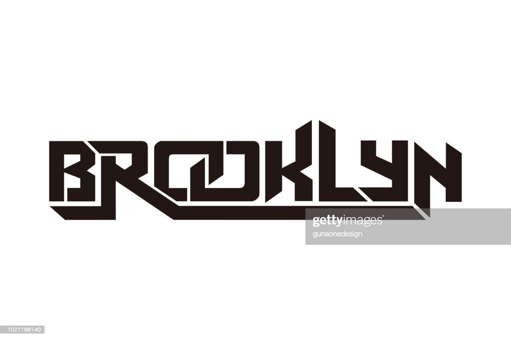 Brooklyn typography design vector, for t-shirt, poster and other uses