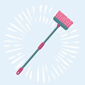 Broom icon. illustration of broom vector icon for web