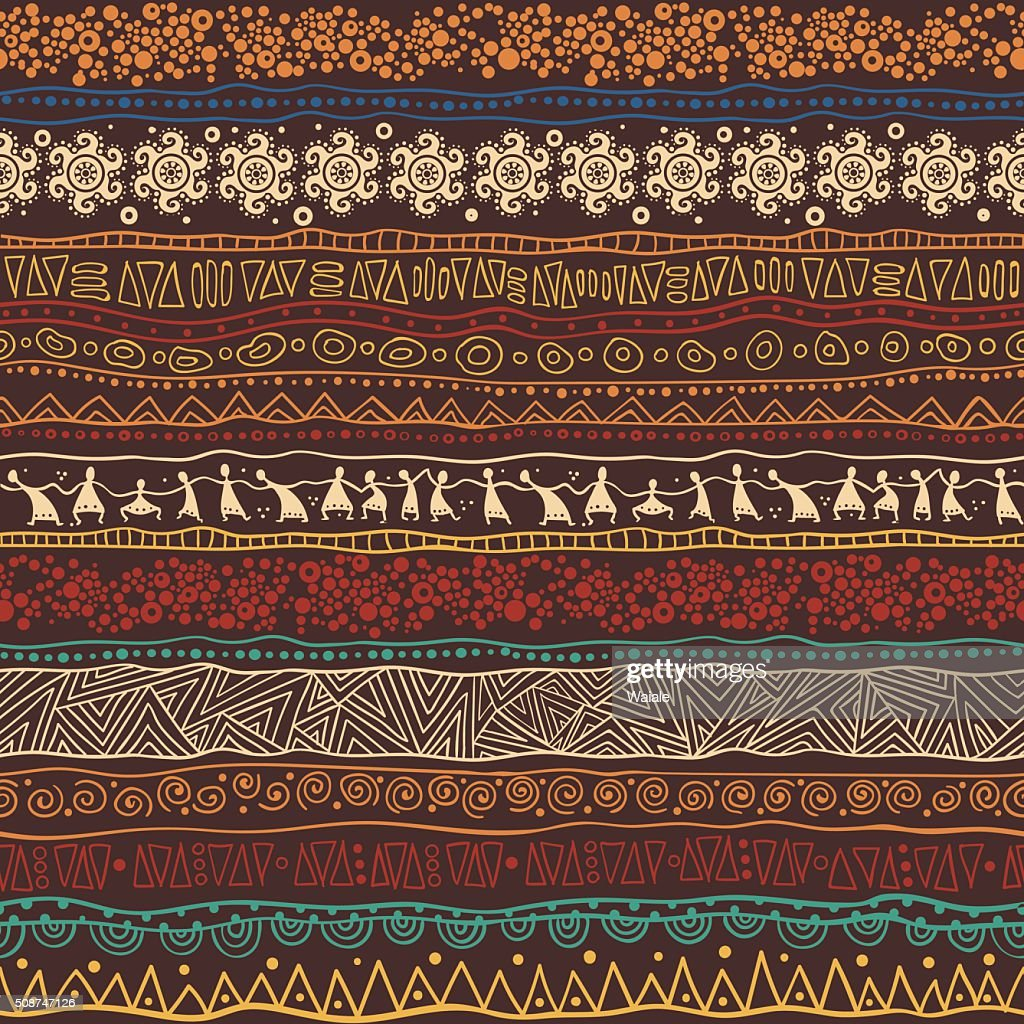 Brown African pattern