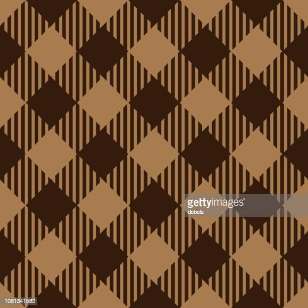 ブラウンとベージュの木こりアーガイル パターン背景 - アーガイル模様点のイラスト素材/クリップアート素材/マンガ素材/アイコン素材