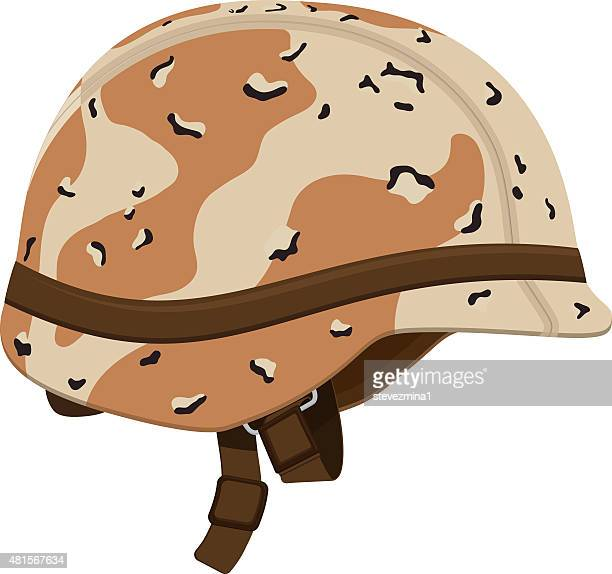 brown and tan camouflage military helmet - army stock illustrations, clip art, cartoons, & icons