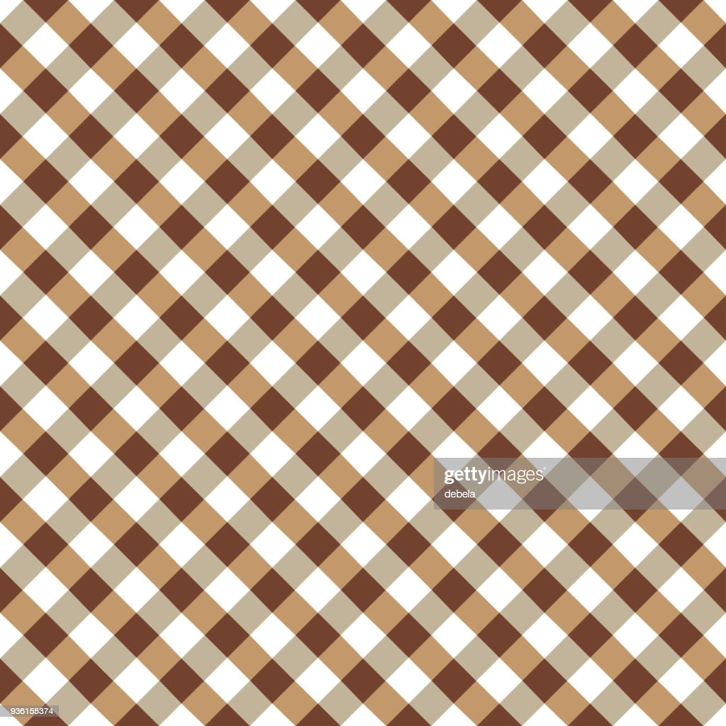 Lovely Brown And White Tablecloth Argyle Pattern Vector Art | Getty Images CX19