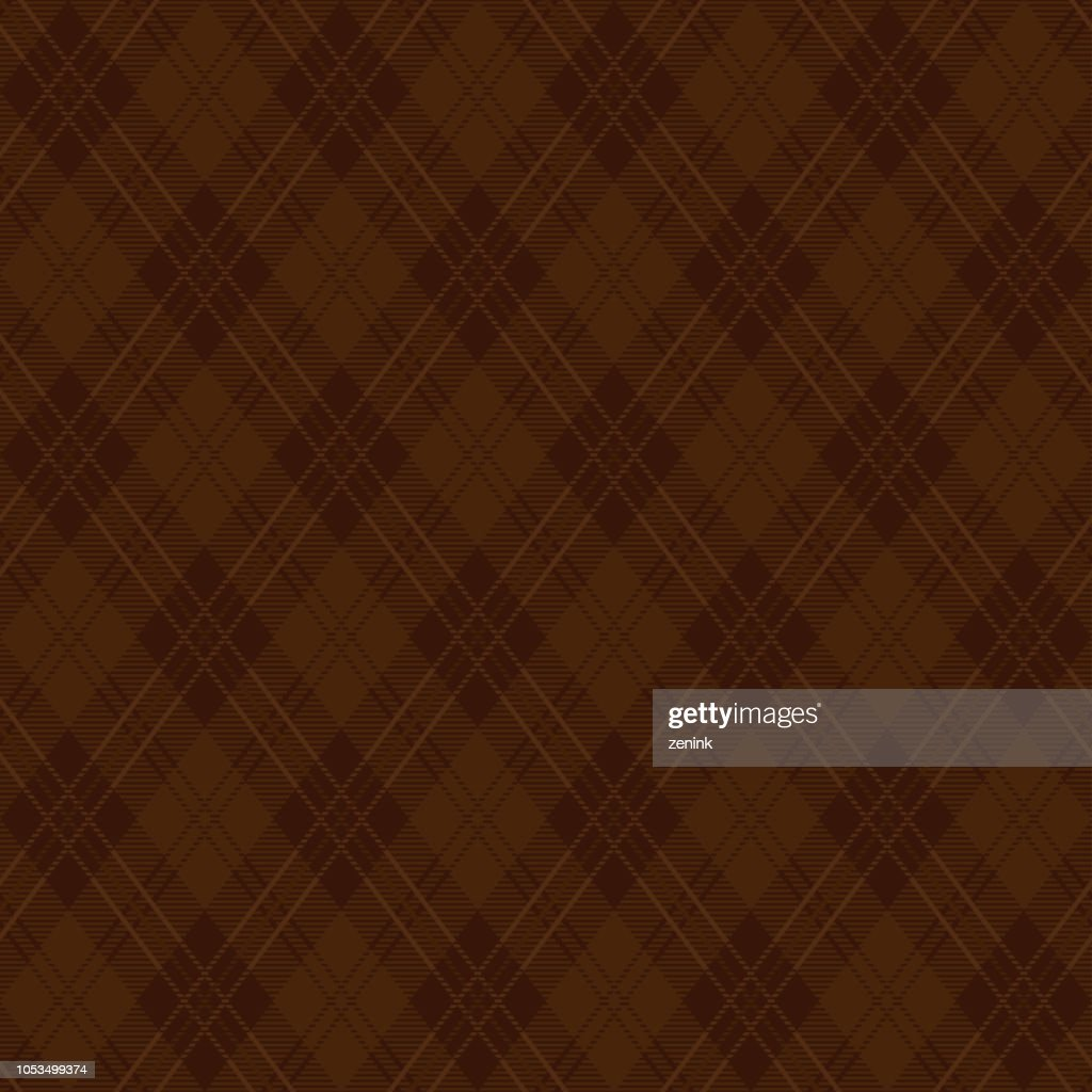 brown argyle plaid pattern.