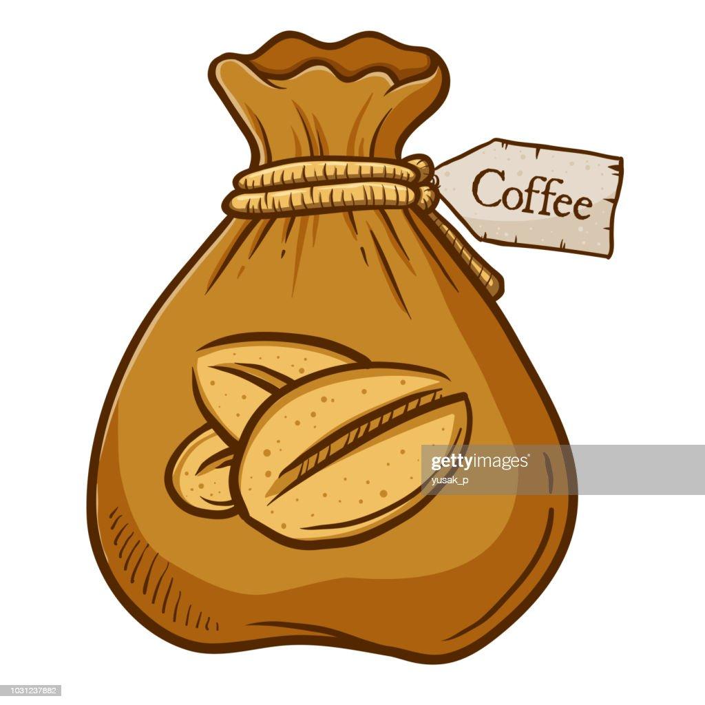 Brown Bag Full of Coffee Bean