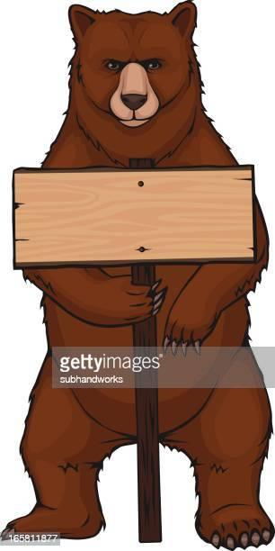 brown bear - bear standing stock illustrations