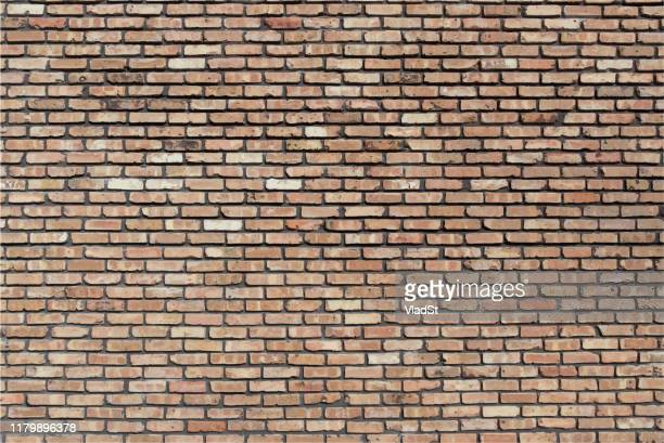 illustrazioni stock, clip art, cartoni animati e icone di tendenza di brown beige red brick wall grunge textured backdrop background illustration - mattone