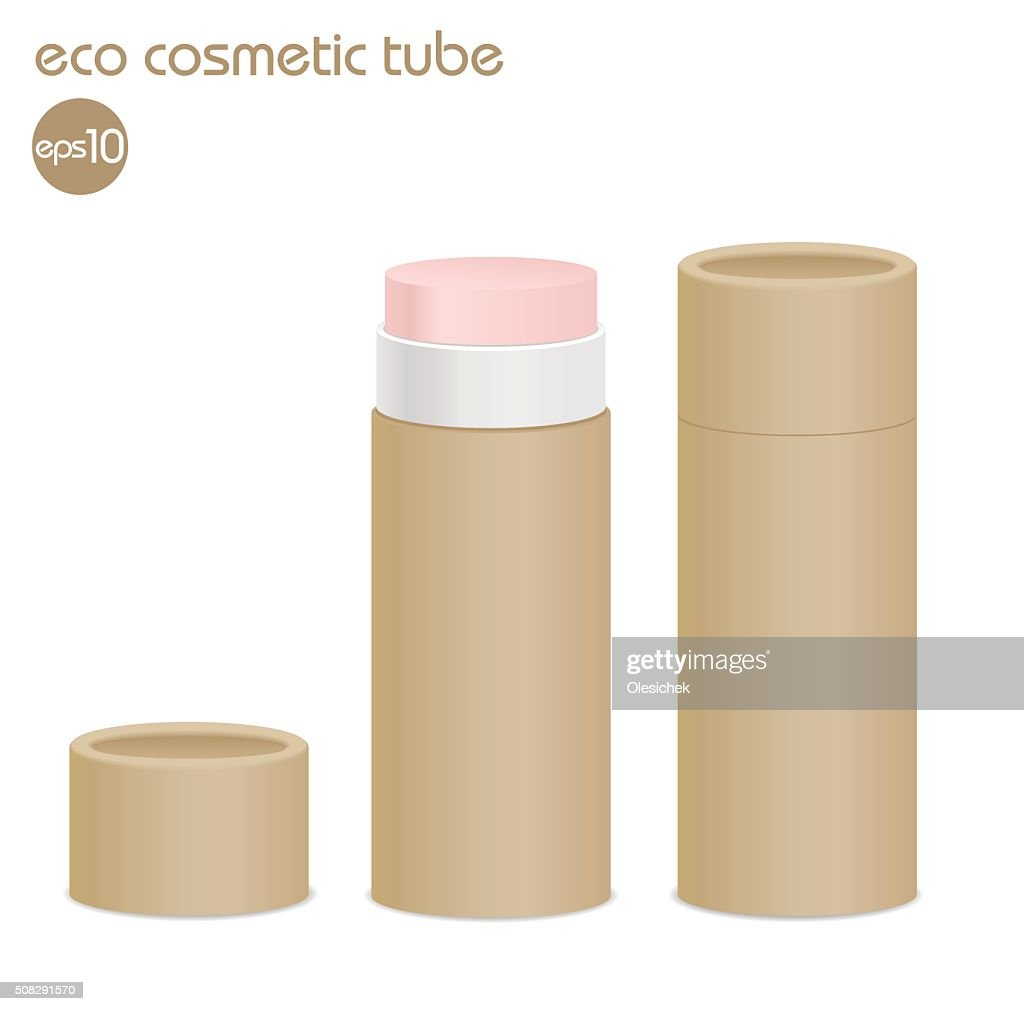 Brown eco cosmetic tube