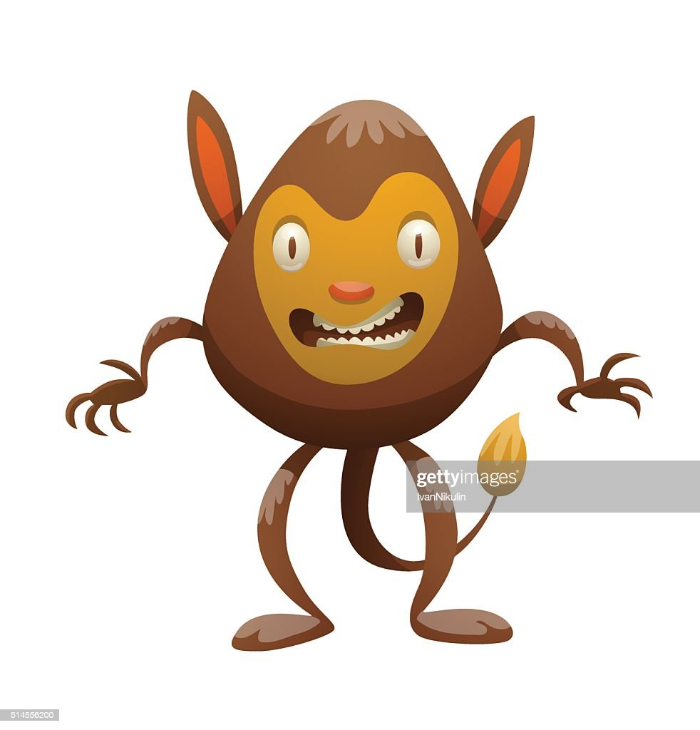 Brown furry monster