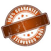 Brown guarantee stamp