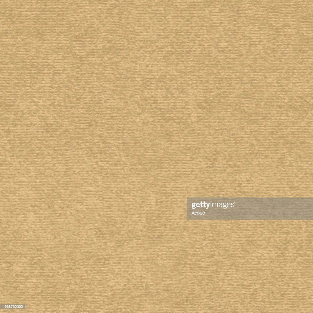 Brown kraft paper with speckle seamless vector texture. Close-up of old cardboard or parchment background.