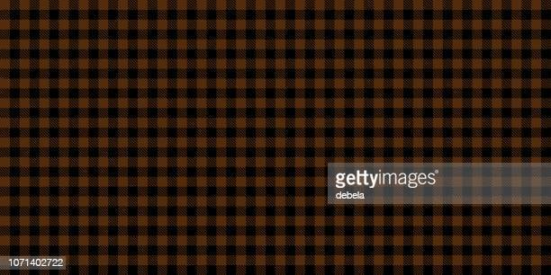 brown lumberjack seamless pattern background - scottish tweed stock illustrations, clip art, cartoons, & icons
