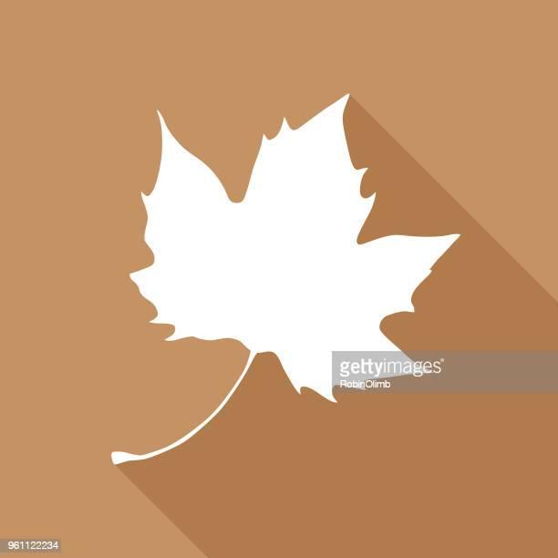 stockillustraties, clipart, cartoons en iconen met bruin maple leaf pictogram - esdoornblad