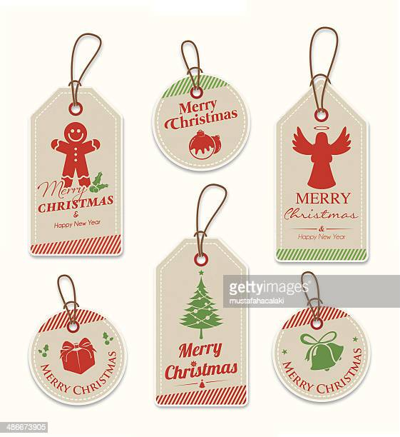 Brown paper christmas tags