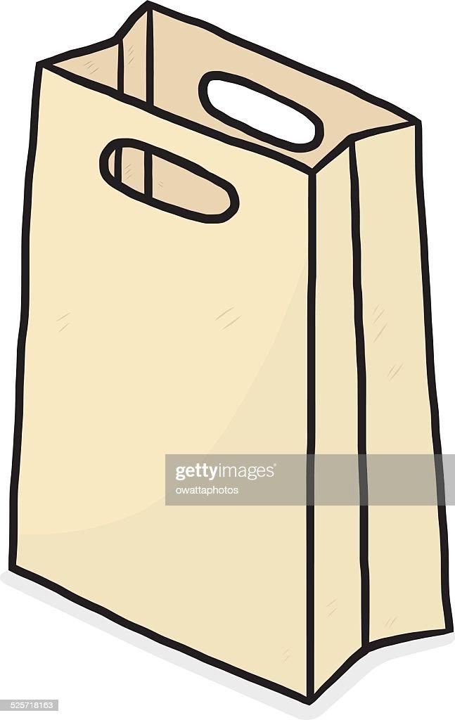 brown paper, shopping bag