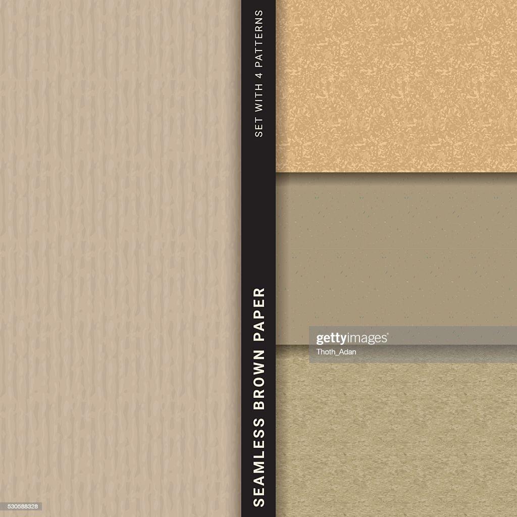 Papel pardo (conjunto com 4 padrões sem emendas : Ilustração