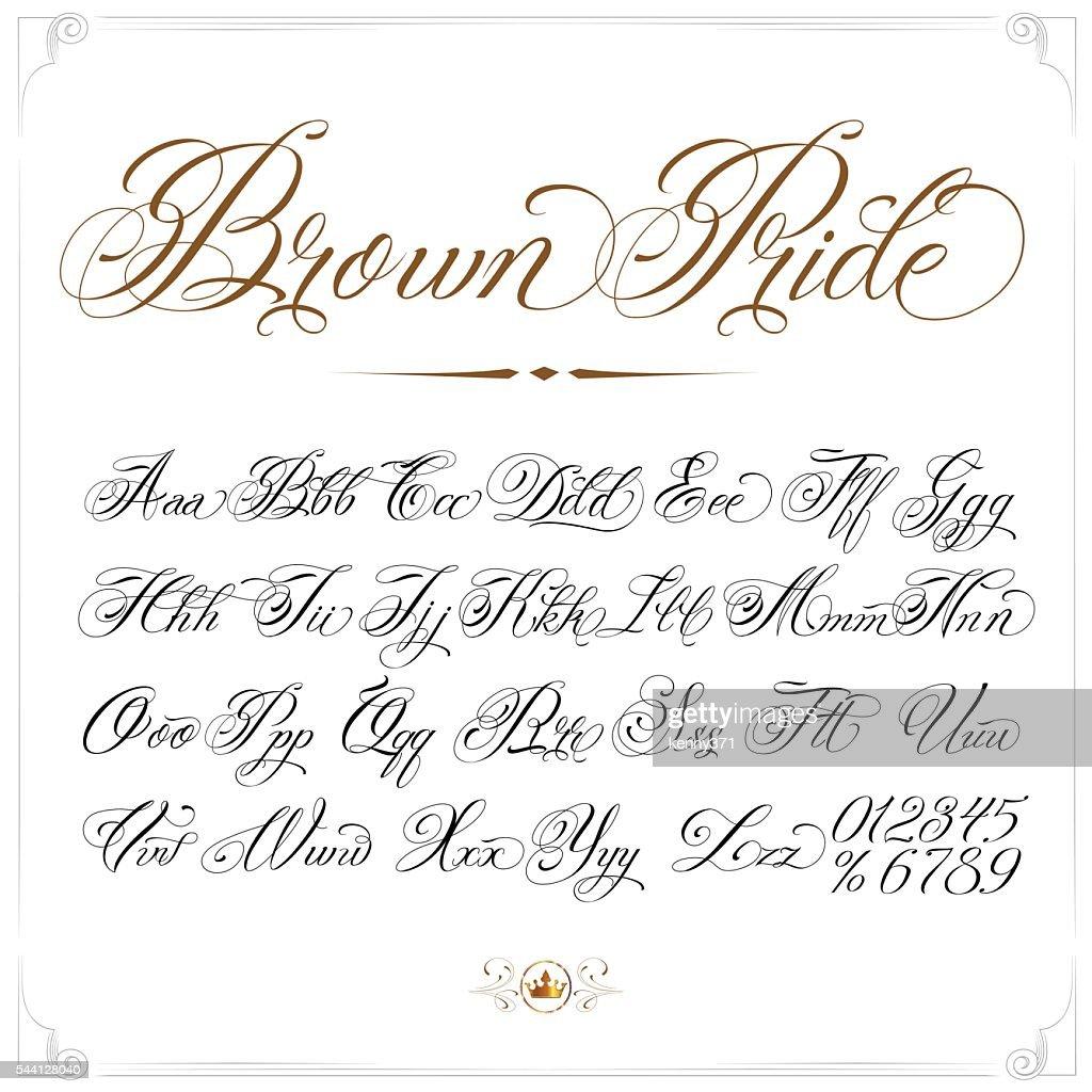 Brown Pride Tattoo Font