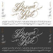 Brown Pride tattoo typescript big set