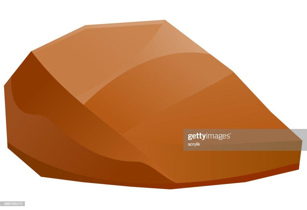 Brown rock or boulder vector
