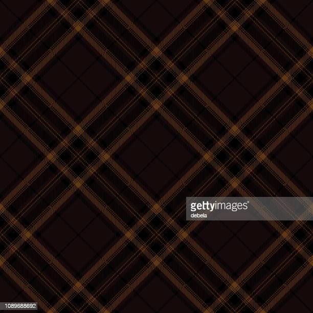 Brown Scottish Tartan Plaid Textile Pattern