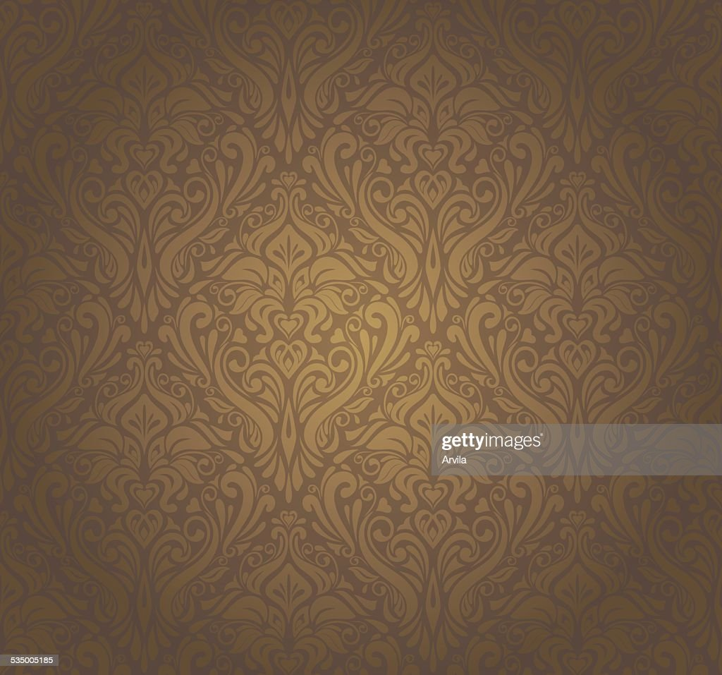 Brown vintage wallpaper design