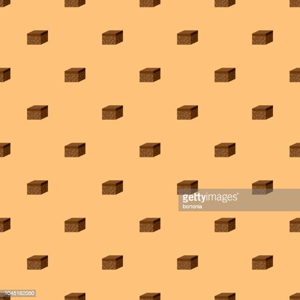 brownie sweet desserts seamless pattern - brownie stock illustrations, clip art, cartoons, & icons