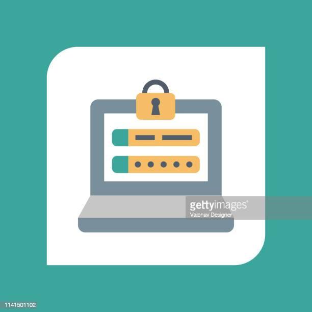 ブラウザセキュリティ, web ページリンクロック-イラスト - ログオン点のイラスト素材/クリップアート素材/マンガ素材/アイコン素材