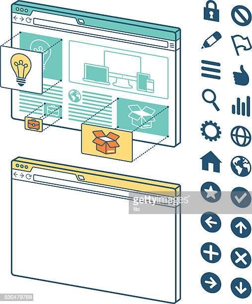 ブラウザのウィンドウ - ホームページ点のイラスト素材/クリップアート素材/マンガ素材/アイコン素材