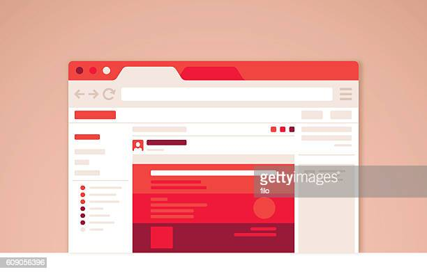 browser window - e mail stock illustrations