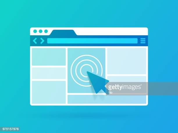 browser window - web page stock illustrations