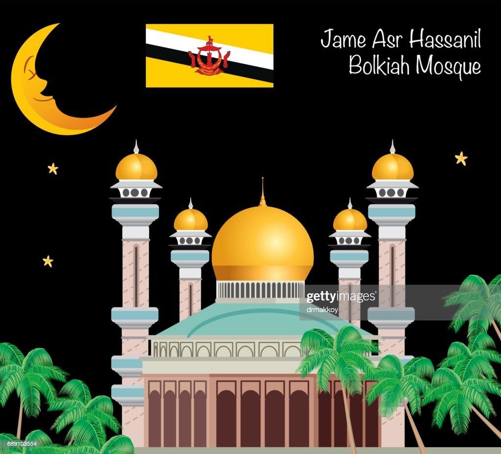 Brunei Mosque : Stock Illustration