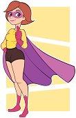 Brunette Superhero - Thumbs up