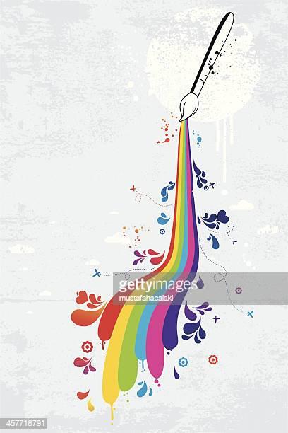 Pennelli colorati graffiti