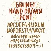 Brush hand drawn textured vector typeset